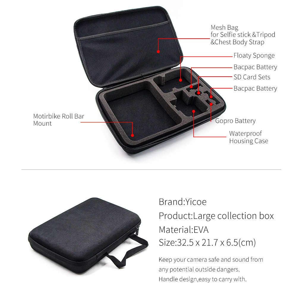 Набор аксессуаров для Gopro go pro hero 6 5 4 3 комплект крепление для спортивной экшн-камеры SJCAM для xiaomi mijia для экшн камеры yi 4 k Экшн-камера eken h9 Экшн-камера
