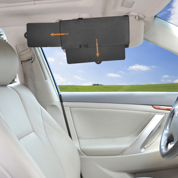 FULLONG Car Visor Anti-glare Sun Shade Extender, Block Windshield and Side Window Sunshine – Black