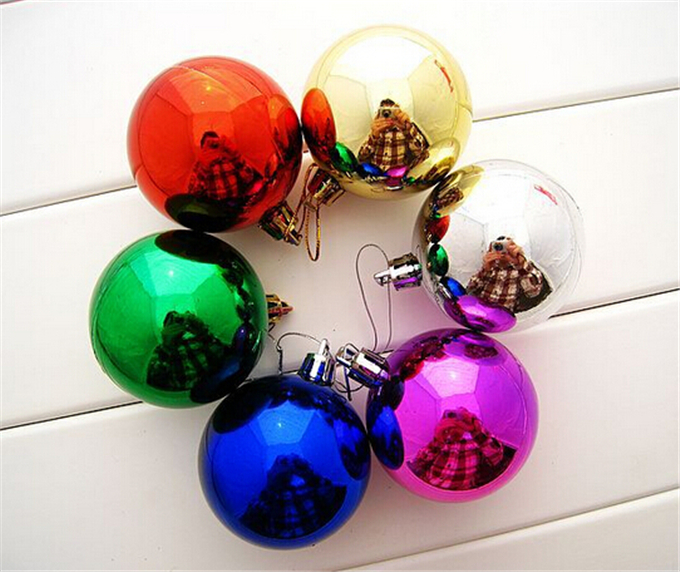 2016 hot sale 12pcs multi color christmas balls ornaments xmas tree hanging party home kids room decoration free shipping sale in christmas from home