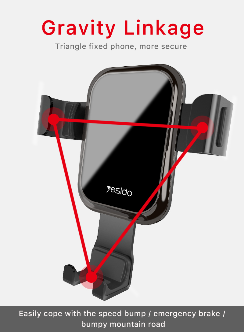 Tempered Glass Gravity Car Phone Holder Air Vent Car Mount Holder (4)