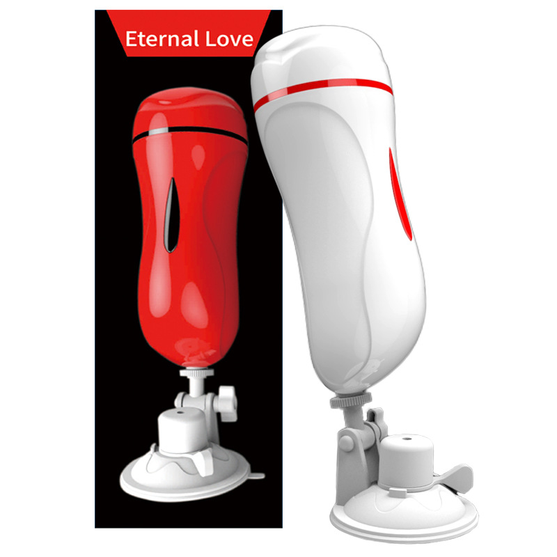 New Hands Free Male Masturbator Double Pocket Pussy Masturbation Cup Artificial Vagina/Anal/Oral Vibrator Pussy Sex Toys For Men dmm masturbation cup powerful vibrator artificial vagina pockets pussy sex male masturbator suck vibrator adult sex toys for men