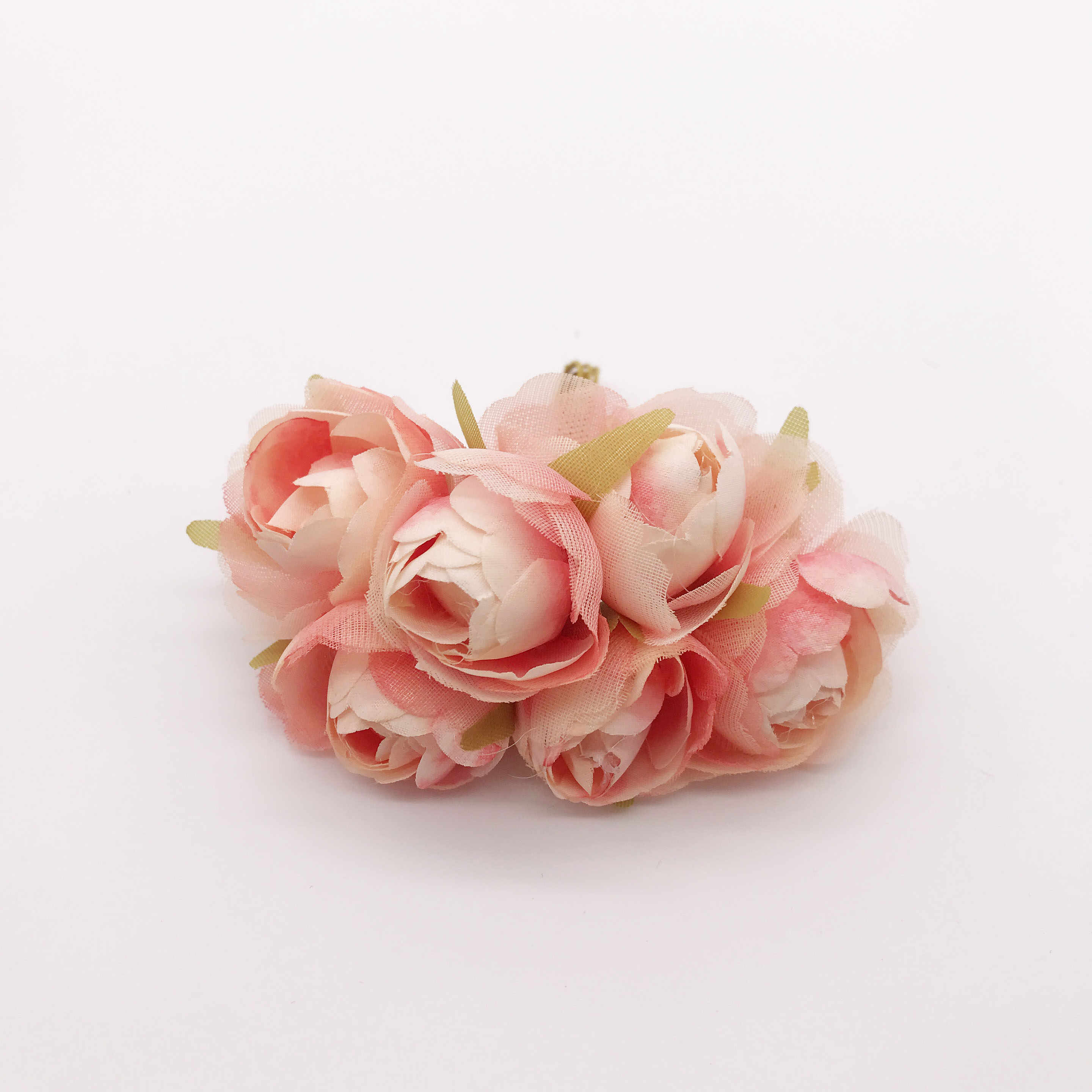 6 pieces / bunch of silk rose small bud tea artificial flowers home decoration wedding party DIY gift box Christmas wreath