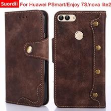 Wallet Case For Huawei P Smart Cover Huawei Enjoy 7s Nova Lite 2 Luxury Leather Flip Phone Bag Coque For Huawei P Smart Cases