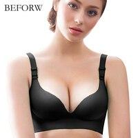 SHOWME Brand Women Bra Fashion Seamless Push UP Bras Sexy Bra For Women Deep V Lady