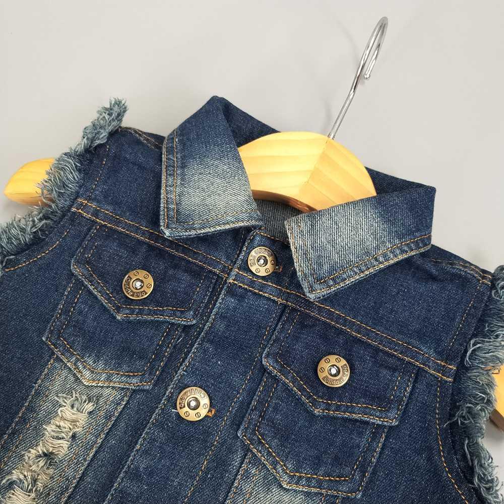 Chumhey Bé Jeans Áo Ghi Lê Mùa Xuân Mùa Thu Xe In Chàng Trai Cô Gái Vest Babe Denim Quần Áo Thể Thao Trẻ Em Quần Áo Trẻ Em Quần Áo