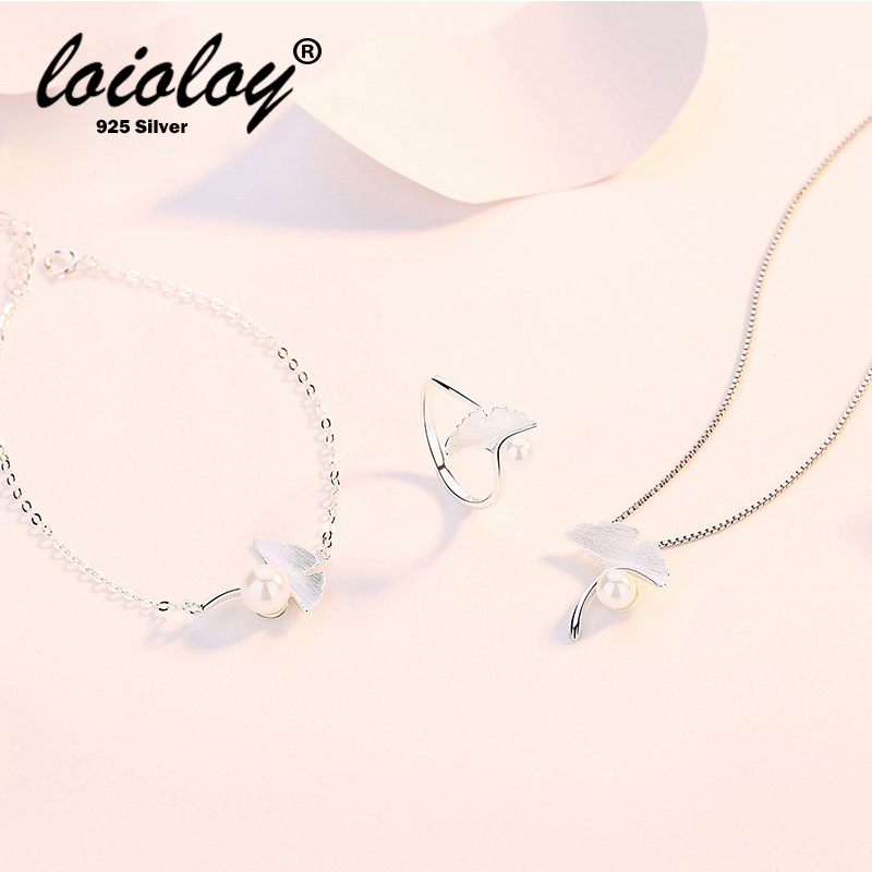 Pendant Necklace Bracelet Ring Set