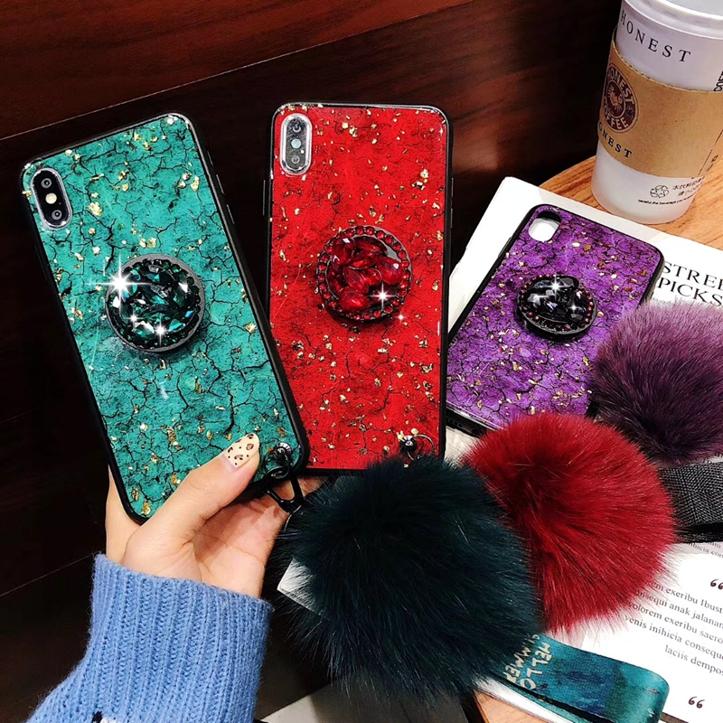 For Huawei Enjoy 8 Case Luxury Gold Foil Bling Marble Phone Cover Soft TPU Silicone Cover For Huawei Enjoy 8 Cute Glitter Case in Fitted Cases from Cellphones Telecommunications
