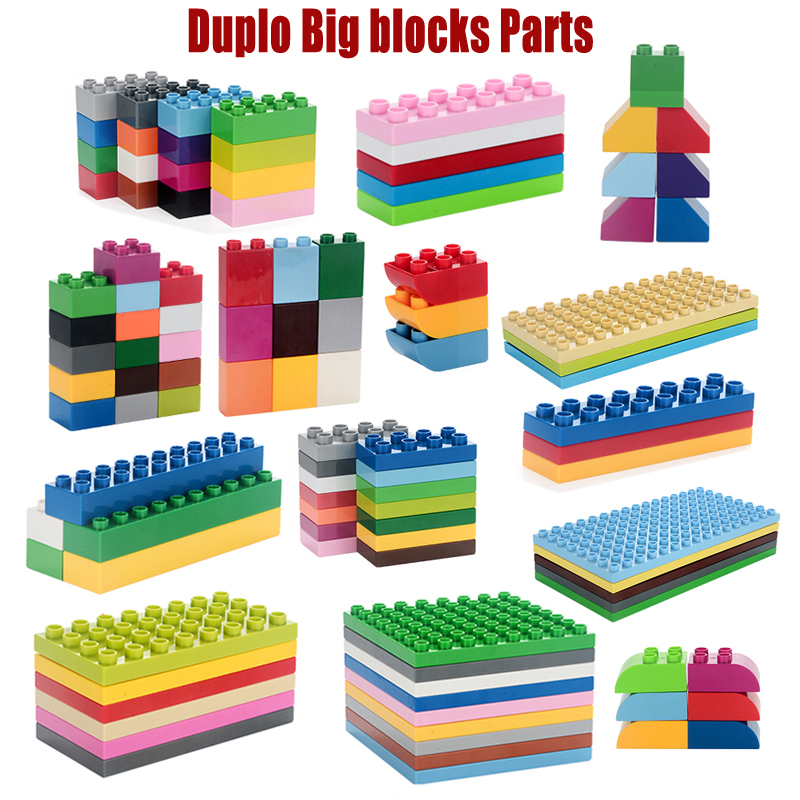 10pcs/lot ABS Big Bricks Duplo Building blocks Parts Enlighten Creative bricks Decool Legoo Compatible minecraft DIY blocks