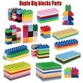 10pcs/lot ABS Big Bricks Duplo Building blocks Parts Enlighten Creative bricks Decool Legoo Compatible minecraft DIY blocks