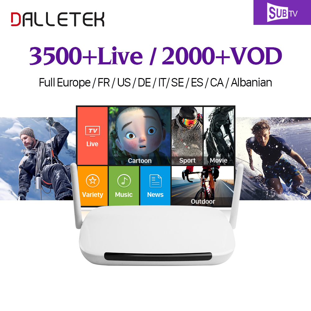 IPTV 1 Year QHDTV Code IPTV Subscription IUDTV/SUBTV Dalletektv Smart Android 6.0 TV Box Europe French Arabic Spanish IPTV Box smart iptv box quad core android tv box 1g 8g with arabic iptv europe iptv subscription 1 year qhdtv iudtv account media player