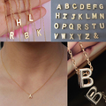 Attractive Women's Metal Alloy DIY Letter Name Initial Link Chain Charm Korean style Necklace 74SZ