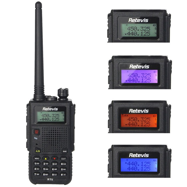 8 Вт Walkie Talkie Retevis RT5 Dual Band Радио VHF/UHF 136-174 + 400-520 МГц Scan 128CH VOX DTMF Fm-радио 1750 Гц Двухстороннее Радио A9108Q