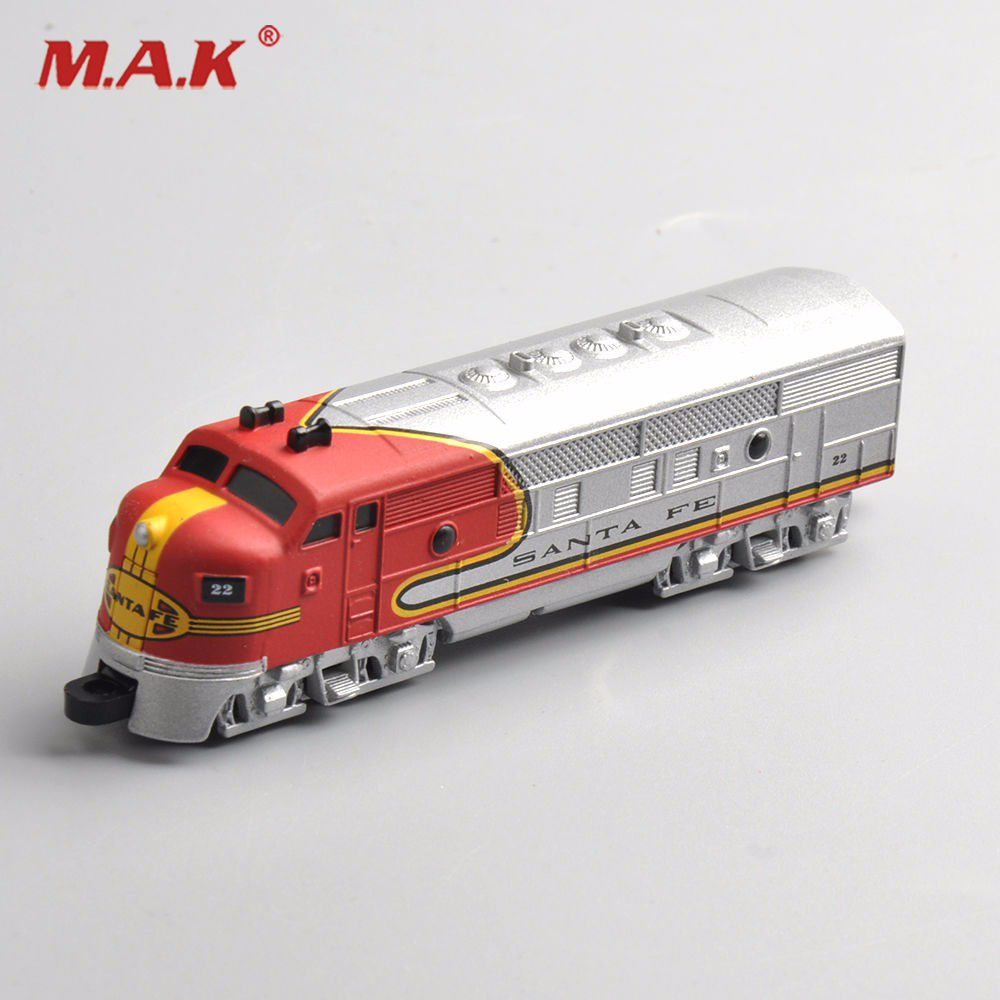 New 1/160 10cm 4 Diecast SANTA FE Train Model Collectible Vehicle Car Toy For Kid Gift