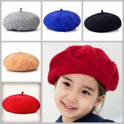 c51876ff37c67 2017 Sale Solid Baby Girls Boinas Boina Feminina Hipster Joker Pearl Wool  Felt Beret Multicolor Painter Hat ...
