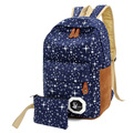 2016 Fashion Star Women/ Men Canvas Backpack Schoolbag School Bags For girl/Boy Teenagers Casual Travel Bags