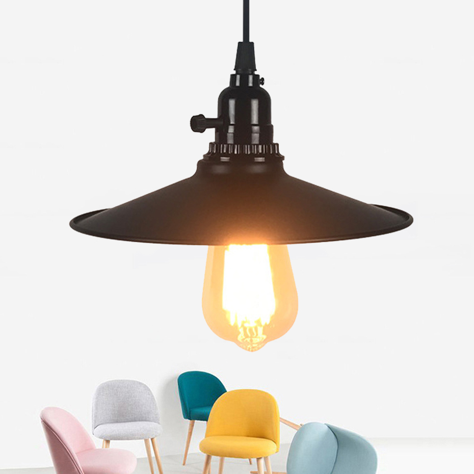 Creative Flying Saucer With Plug Pendant Light Retro Wrought Iron Single Head E27 Small Pendant Lamp For Warehouse Coffee Bar Goods Of Every Description Are Available Pendant Lights