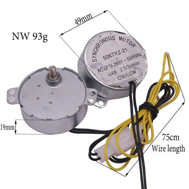 Mini incubateur à moteur 220V AC V | 1 pièce, accessoires à moteur synchrone 50ktyz-21 AC220v, 4w 2,5r/Min, pour Machine à hacher