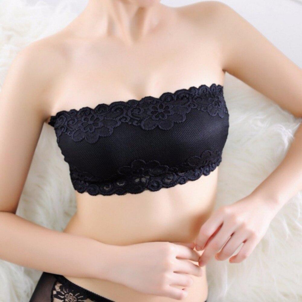 Sujetadores de encaje de poliéster sexy para mujer previenen el - Ropa interior - foto 2