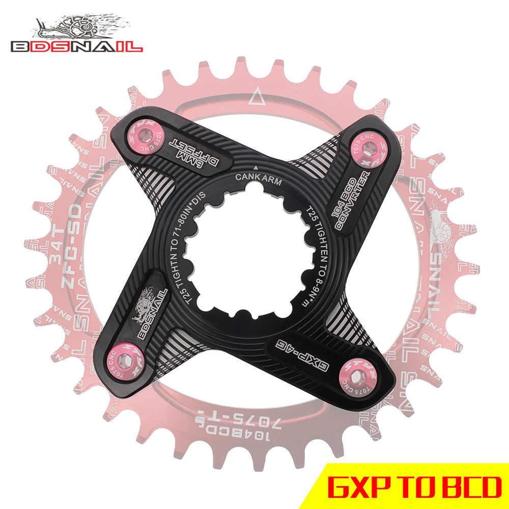 Велосипедный Кривошип GXP преобразования 104BCD 110BCD рукоятка шестерни MTB шатун для горного велосипеда алюминиевый велосипедный Кривошип набор звездочек 170 мм