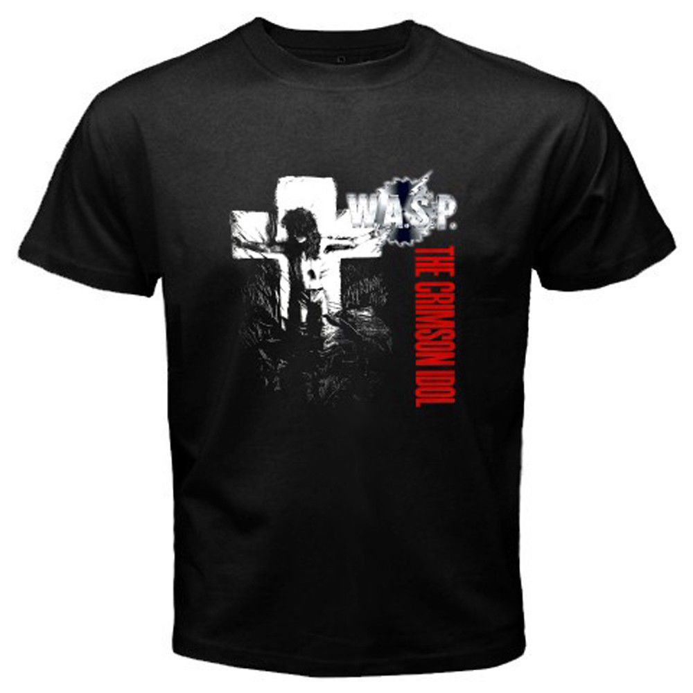 New WASP W.A.S.P. The Crimson Idol Metal Rock Mens Black T-Shirt Size S to 3XL