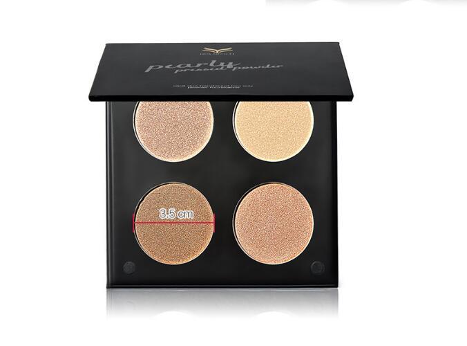 Maquiagem Professionelle 4 Farben Glitter Lidschatten-palette Natürlich Nude Make-Up