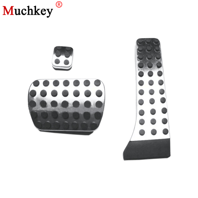 Stainless Steel No Drill Car Fuel Brake Foot Pedal Accessroies For Mercedes Benz C E S Glk Slk Cls Sl Cl 3pcs Styling