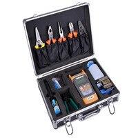Волоконно оптических холодной Tool Kit, кожа кабель холодной подключения Toolbox, оптический Мощность метр, Визуальный дефектоскоп, тесак для воло