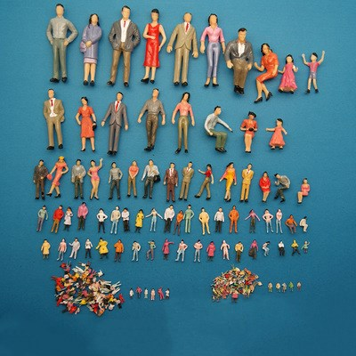 Wiking 1:200 Scale Train Building People Painted Model Train Passenger People Figures Scale