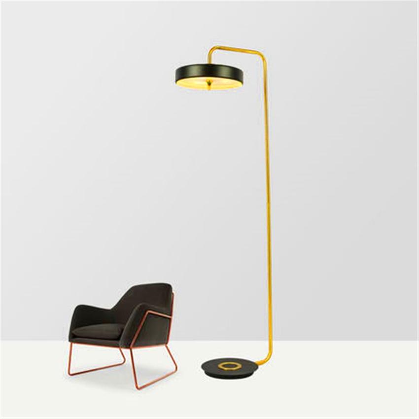 Nordic Lambader LED Standing Lamp Glass Floor Light Metal for Apartment Villa Living Room Bedroom