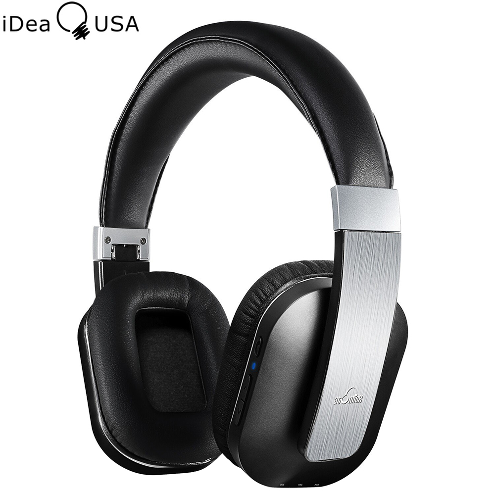 iDeaUSA S204 Foldable Wireless Bluetooth Headphones Noise Reduction Over Ear Headphone Bluetooth 4 0 EDR Apt