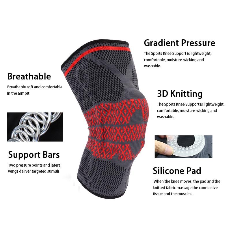 COYOCO silicio soporte primavera rodillera 1 piezas pierna Arthritis ...