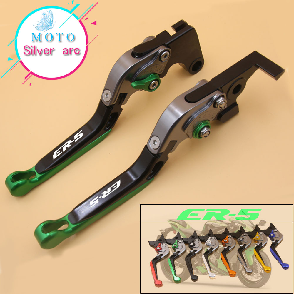 8 Colors With Logo(ER-5) Orange&Titanium CNC Folding&Extending Motorcycle Brake Clutch Lever For Kawasaki ER-5 ER5 2004-20058 Colors With Logo(ER-5) Orange&Titanium CNC Folding&Extending Motorcycle Brake Clutch Lever For Kawasaki ER-5 ER5 2004-2005