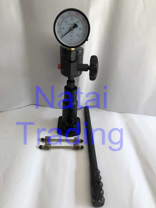 PS400A iron nozzle tester diesel mechanical common rail injectors nozzle  pop tester with 60Mpa pressure gauge