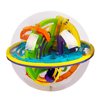 158 Steps 3D Magic Maze Ball Kids Children Intellect Balls Magical Puzzle Game Toys IQ Balance