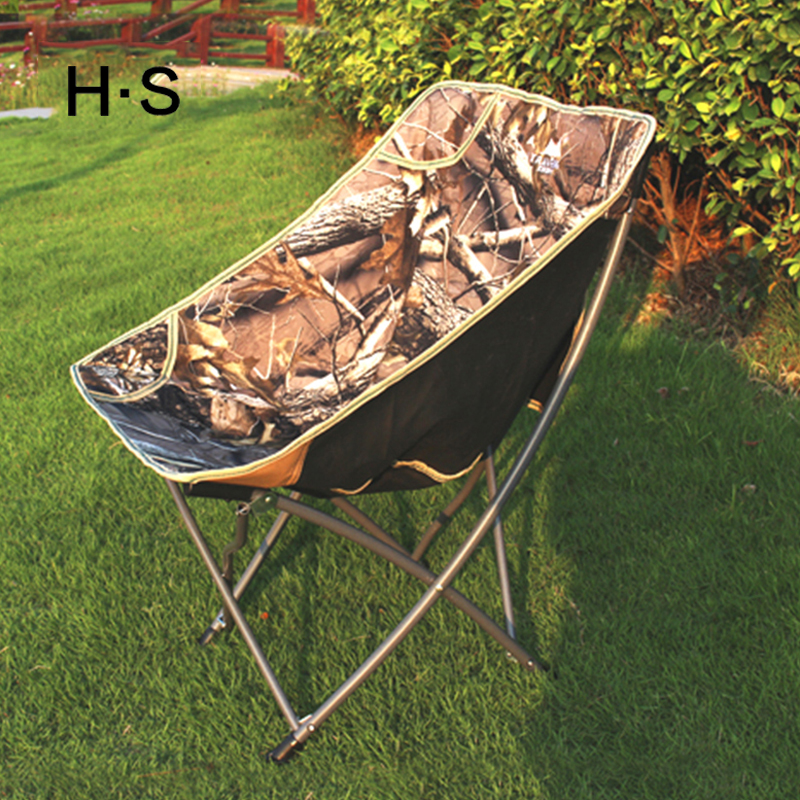 Modern Leisure Outdoor Fishing Folding Chair Easy Beach Camping Picnic BBQ Portable Ultra-Light Chair Balcony Moon Chair sale ...
