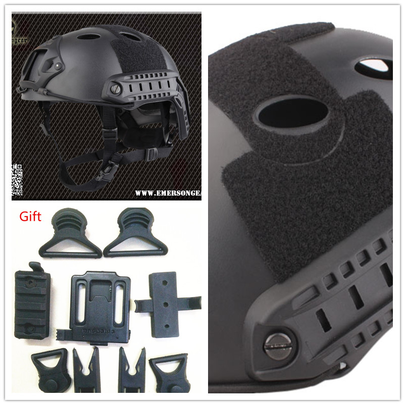 EMERSON Tactical FAST Helmet PJ TYPE Black Airsoft painball adjustable dial Pararescue Jump protective EM5668B