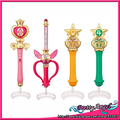 Original Bandai Sailor Moon Crystal 20th Anniversary Gashapon Sailor Moon Wand Charm Part 2 Henshin Rod & Stick Set