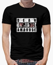 brand clothing Direct Selling mens t shirt Dean Ambrose Unstable short O neck Letter Knitted anime Six colors