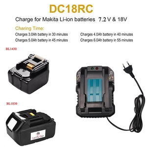 Image 3 - Dc18Rc 14.4V 18V Li Ion Battery Charger 4A Charging Current For Makita Bl1830 Bl1430 Dc18Rc Dc18Ra Power Tool Battery Eu Plug
