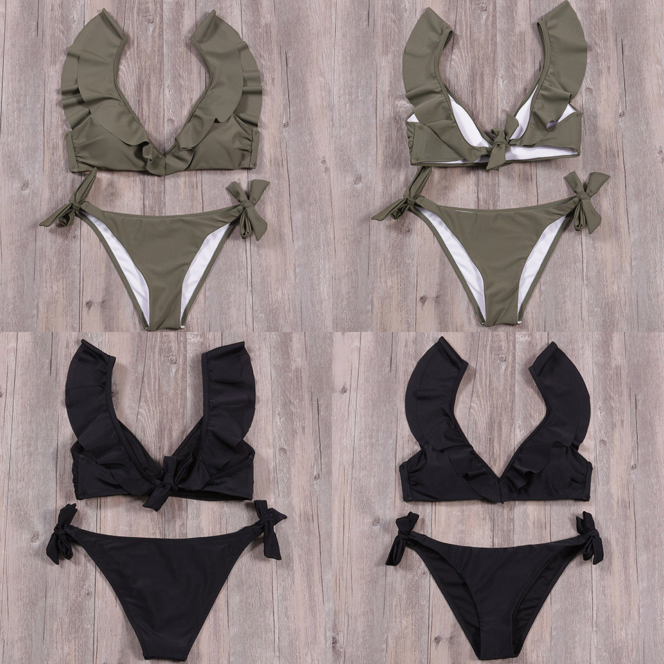 TCBSG Bikinis 19 Sexy Swimwear Women Swimsuit Push Up Brazilian Bikini set Bandeau Summer Beach Bathing Suits female Biquini 8