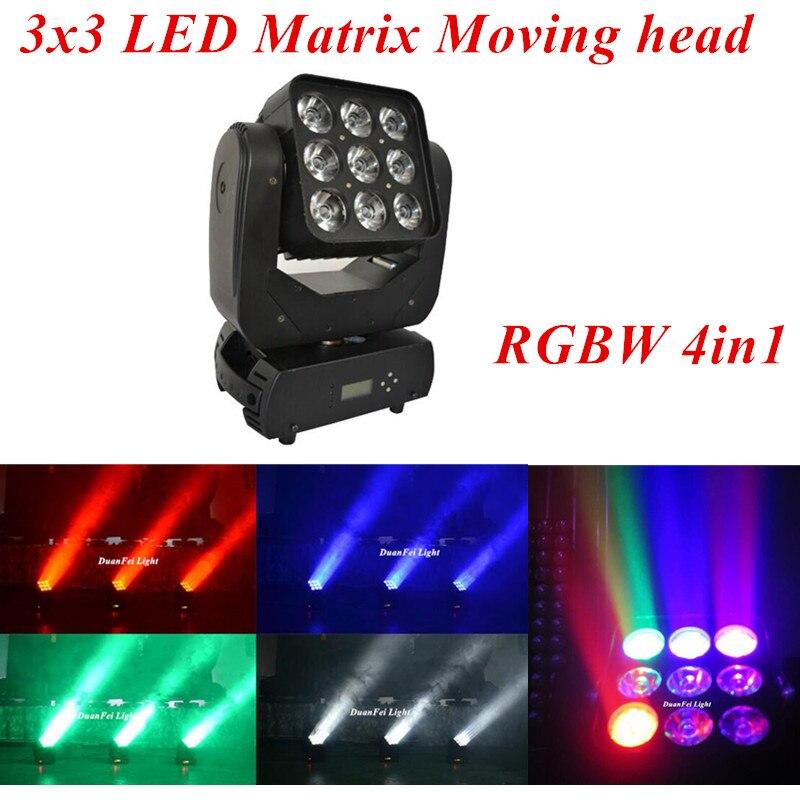Lights & Lighting 9x12w Moving Head Beam Light Mini Matrix Light Rgbw 4in1 Stage Lighting Effect Beam Disco Light
