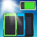 High Quality  8000mAh Portable Waterproof Solar Power Bank Backup Battery Charge For Phone 3 Color Wholesale