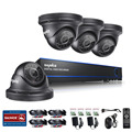 SANNCE 4CH 1080P CCTV DVR System with 4x HD 1920x1080 2.0 Mega-Pixels, P2P Technology Outdoor Security Dome Cameras