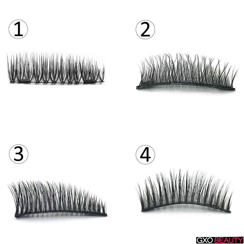 GXO BEAUTY 3D Natural False Eyelashes Diverse Styles Handmade Soft Magnet Eye Lashes Extension Makeup Tool-D/7/8/9