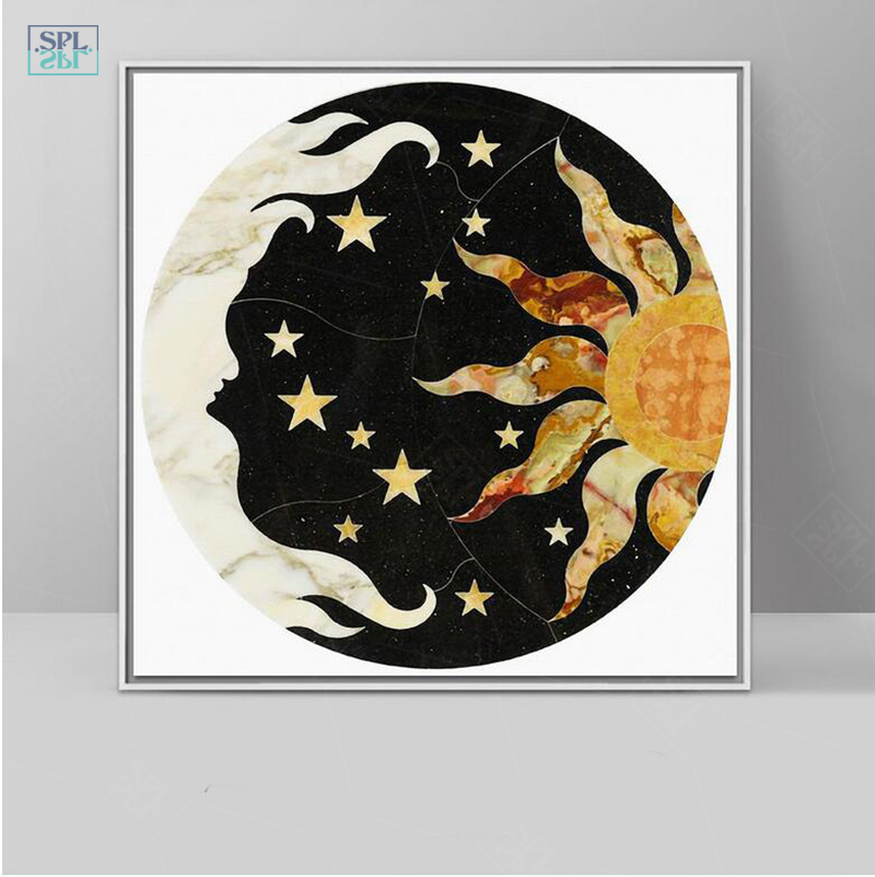European Myths Illustration Sun Moon Star Wall Picture Nordic Canvas Art Print Poster Painting No Frame With Free Shipping Worldwide Weposters Com