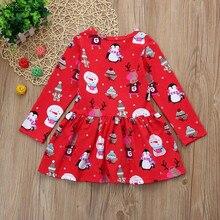 Kid Baby Girl Christmas Clothes Long Sleeve Dress