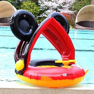 Flotador de piscina inflable para niños, juguete flotador de piscina inflable para bebés