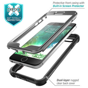 Image 2 - For iPhone 6 Plus/6s Plus Case 5.5 inch i Blason Ares Series Full Body Rugged Clear Bumper Case with Built in Screen Protector
