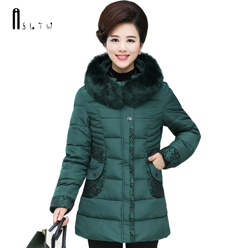 ASLTW Plus Size Winter Female Jacket New Arrive Long Sleeve Slim Coat With Hooded Women   Parka   Cotton Coat