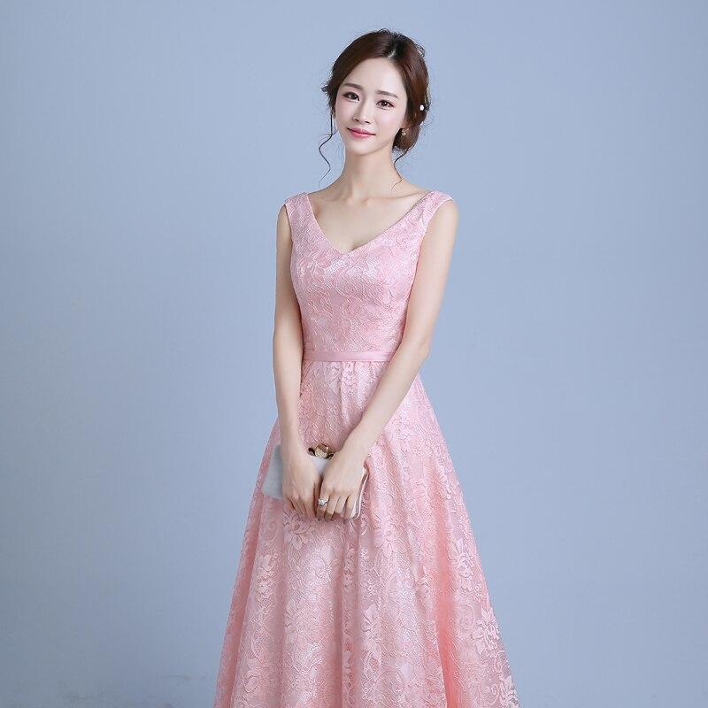 Real Photo Women Long Formal Prom Gown V Halskjede Kjole - Spesielle anledninger kjoler - Bilde 4